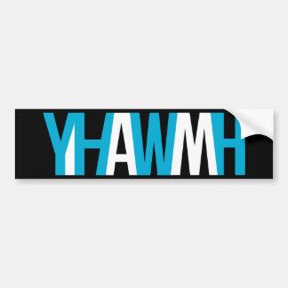 """Name des Gottes - YHWH """"ICH BIN """" Autoaufkleber"""