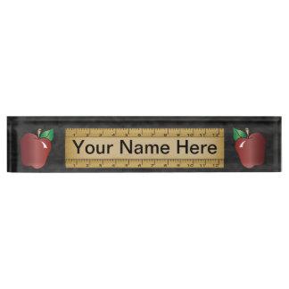 Name des Schullehrer-  DIY Schreibtischplakette