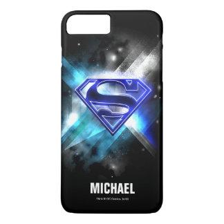 Name des Supermann-stilisierter | blauer weißer iPhone 8 Plus/7 Plus Hülle