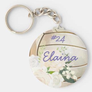 Name-eleganter gemalter Volleyball Schlüsselanhänger