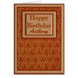 Name-formale Geburtstags-Karte