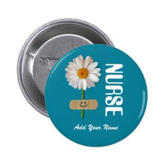 Name-Geschenk-Knöpfe für Krankenschwestern Runder Button 5,7 Cm