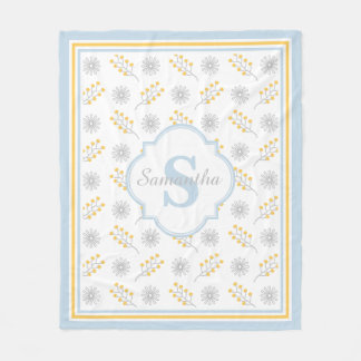 Name-/Monogramm-Mädchen-Fleece-Decke, Medium Fleecedecke