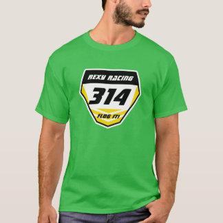 Name-Nummernschild: Gelb - dunkle Zahl T-Shirt