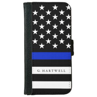 Name-patriotische Polizei kennzeichnet iPhone 6/6s Geldbeutel Hülle