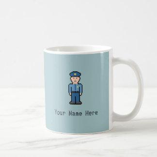 Name-Pixel-Polizist Tasse
