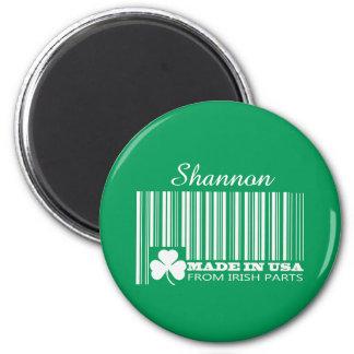 Name-St Patrick Tagesspaß-Geschenk-Magneten Runder Magnet 5,1 Cm