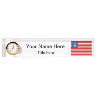 Name und Titel der Flagge-| DIY Schreibtischplakette