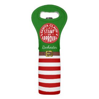 Name Weihnachtsfeiertags-lustiger Weintasche