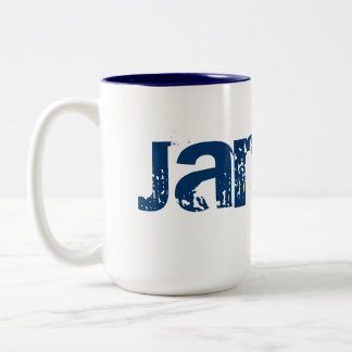 Name, Weiß, blaue Tasse
