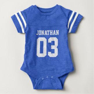 Name-Zahl-Baby-Sport-Jersey-Bodysuit Baby Strampler