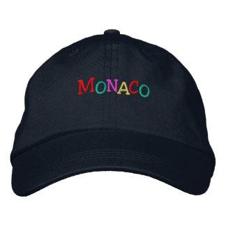 Namedrop mehrfarbiges Nation_Monaco Bestickte Kappe