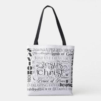 Namen der Jesus-Typografie-Taschen-Tasche Tasche