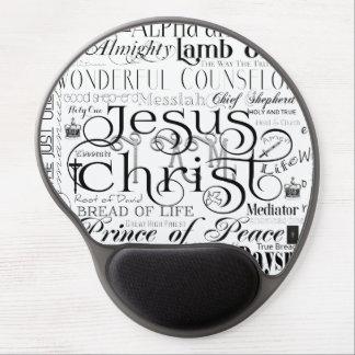 Namen des Jesus-Typografie-Gels Mousepad