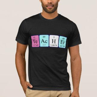 Namen-Shirt der periodischen Tabelle des Lehrers T-Shirt