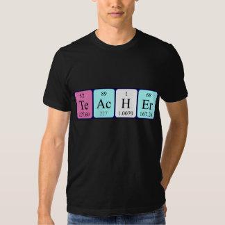 Namen-Shirt der periodischen Tabelle des Lehrers Tshirts