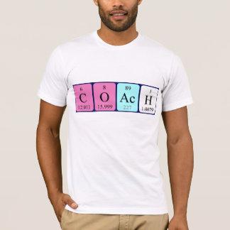 Namen-Shirt der periodischen Tabelle des Trainers T-Shirt