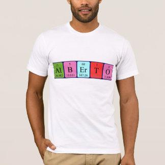 Namen-Shirt periodischer Tabelle Albertos T-Shirt