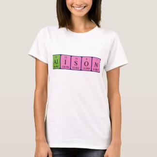 Namen-Shirt periodischer Tabelle Alison T-Shirt