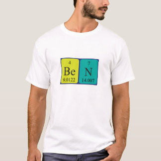 Namen-Shirt periodischer Tabelle Bens T-Shirt