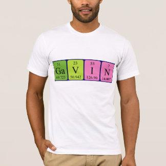 Namen-Shirt periodischer Tabelle Gavin T-Shirt