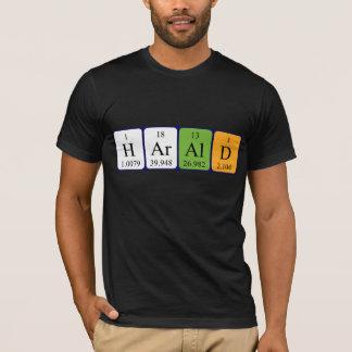Namen-Shirt periodischer Tabelle Harald T-Shirt
