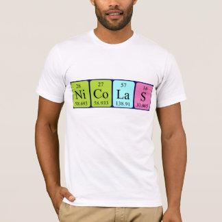 Namen-Shirt periodischer Tabelle Nicolas T-Shirt