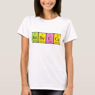 Namen-Shirt periodischer Tabelle Rebecca T-Shirt