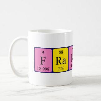 Namen-Tasse periodischer Tabelle Francesco Kaffeetasse