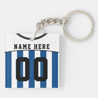 Namen-u. Zahl-Jersey-Schlüsselring, Fußball, Schlüsselanhänger