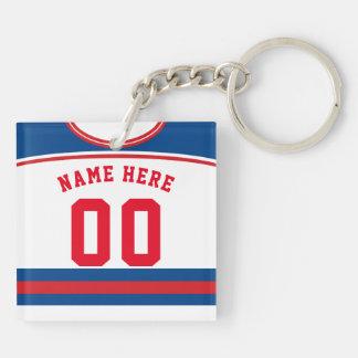 Namen-u. Zahl-Jersey-Schlüsselring, HockeyLacrosse Schlüsselanhänger