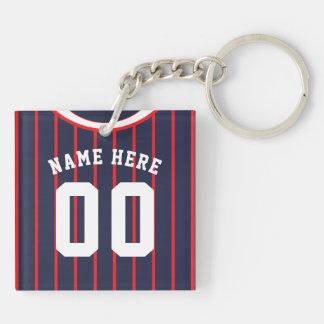 Namen-u. Zahl-Jersey-Schlüsselring, Schlüsselanhänger