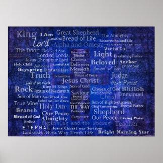 Namen von Jesus - zeitgenössische christliche Kuns Poster