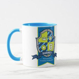 Namenbedeutungs-Tasse des blauen Grüns des Wappen Tasse