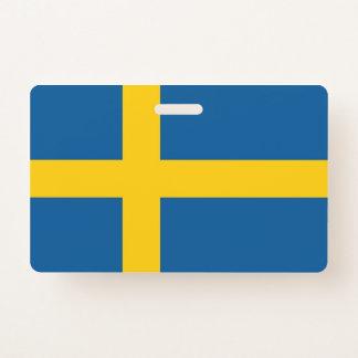 NamensAbzeichen mit Flagge von Schweden Ausweis