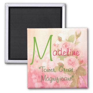 Namensbedeutungs-Magnet, Madeline Quadratischer Magnet
