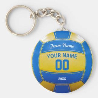 Namensdas jahr-Team des Volleyball-Spielers blau Standard Runder Schlüsselanhänger