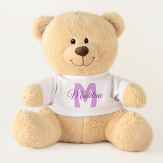 Namensder teddy-Bär des personalisierten lila Teddy
