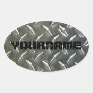 Namensschild der kundenspezifischen Metallarbeit Ovaler Aufkleber