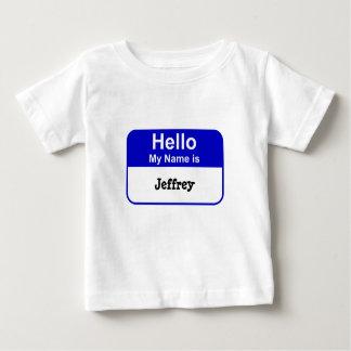 Namensumbau-Baby-T - Shirt im Blau, addieren Namen