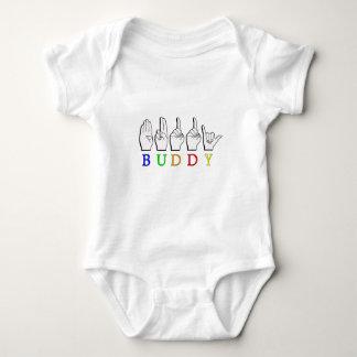 NAMENSzeichen FREUNDASL FINGERSPELLED Baby Strampler