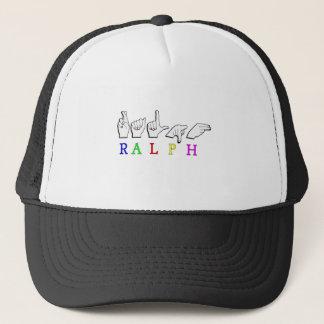 NAMENSzeichen RALPH ASL FINGERSPELLED Truckerkappe