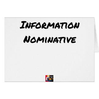 NAMENTLICHE INFORMATION - Wortspiele Karte