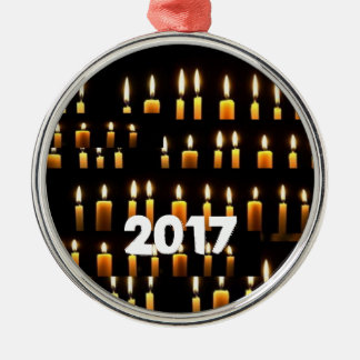 Nameste Kerzen-Dekorationen 2017 GLÜCKLICHE Silbernes Ornament
