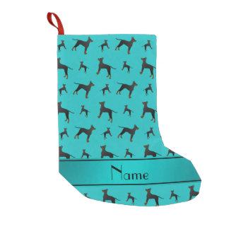 Nametürkis Manchester-Terrierhunde Kleiner Weihnachtsstrumpf