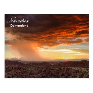Namibia- - Damaralandgewitterpostkarte Postkarte
