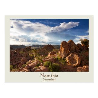 Namibia- - Damaralandpostkarte mit Text Postkarten