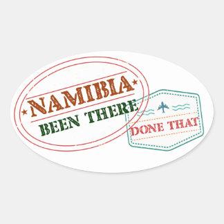 Namibia dort getan dem ovaler aufkleber