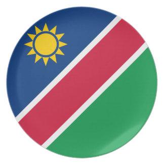 Namibia-Flagge Melaminteller