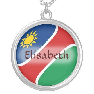 Namibia-Flagge + Namenshalskette Halskette Mit Rundem Anhänger